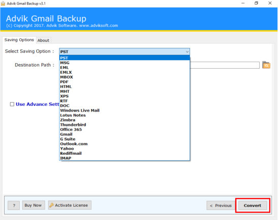 Gmail to Outlook 2019 Migration