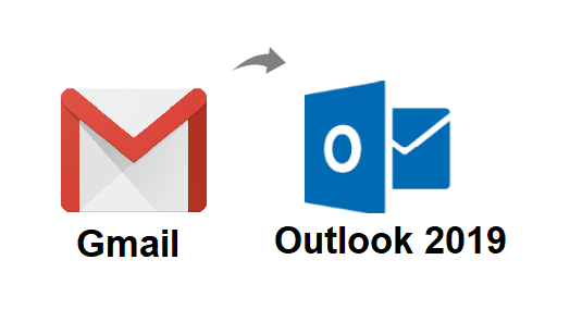 download all emails from Gmail to Outlook 2019