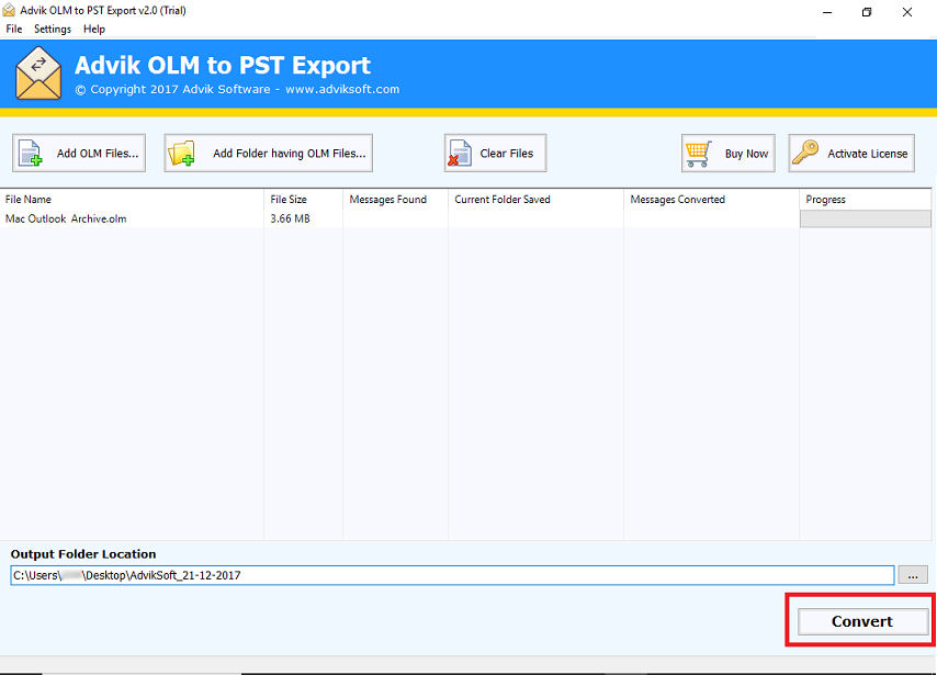 How to import OLM into Outlook 2019