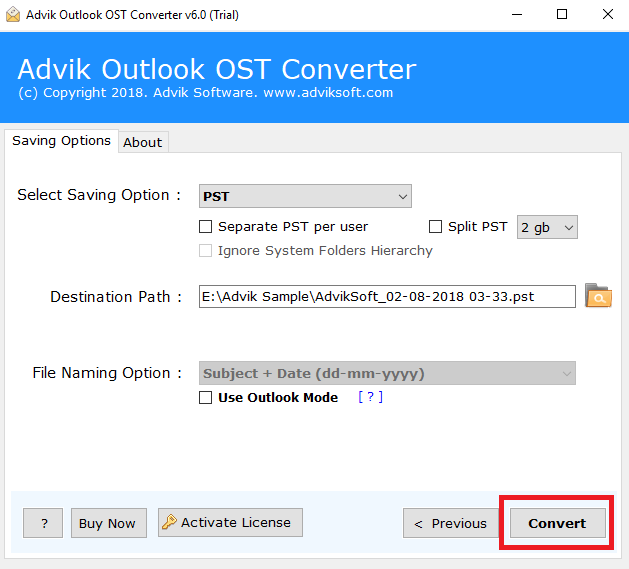 Import OST into Outlook 2019