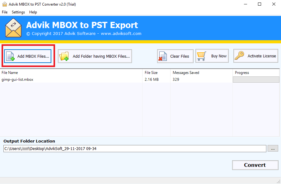 Import MBOX to Outlook 2019