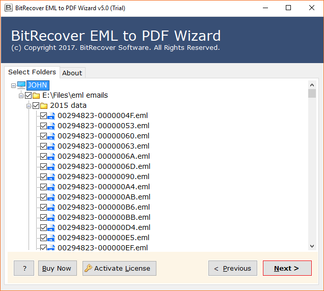 EML to PDF conversion