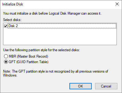 hard drive not showing
