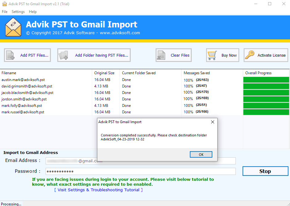 import outlook pst to gmail