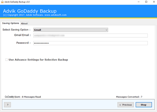 migrate godaddy emails to gmail