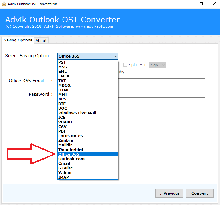 best ost to office 365 converter